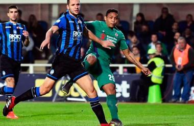 El delantero tomasino Luis Fernando Muriel anotó el único gol de la Fiorentina.