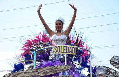 Paula Andrea Luna, reina central del municipio de Soledad.