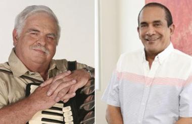 Rafael Ricardo, acordeonero y Rafael Manjarrez, compositor de música vallenata.
