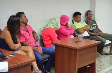 Secuestradores durante la audiencia en Valledupar.