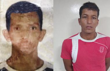 Aquileo Sandoval, asesinado (izq.) y Wilmer Fernández, capturado (der.).