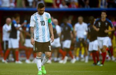 Lionel Messi en el juego ante la selección de Francia, que al final resultó siendo la campeona del Mundial.