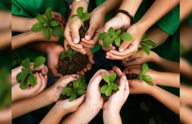 El eslogan: Let is act. Together! (Actuemos. ¡Unidos!), está inspirado en el discurso del nuevo símbolo de la lucha contra el cambio climático.