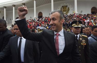 Tareck El Aissami, exvicepresidente y actual ministro de Industria de Venezuelaen una  foto de archivo.