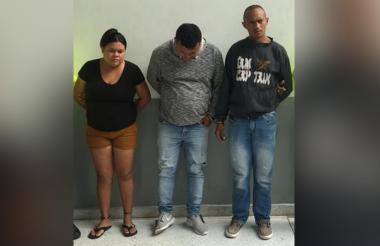 Ana Teresa Olivera Díaz, Juan Carlos Sánchez Camargo y Yesid Abdul Mariscal Rodríguez, capturados.