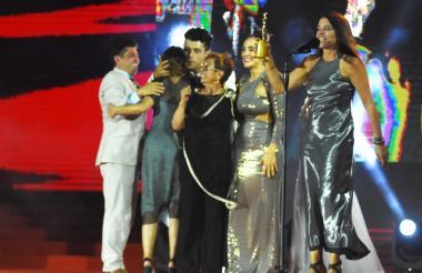Actores de la producción 'Garzón', escogida como la mejor telenovela o serie este sábado en Cartagena.