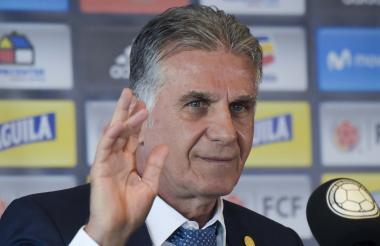 Carlos Queiroz durante su  conferencia de prensa.