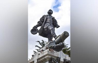 Monumento de Magallanes en Punta Arenas, Chile.