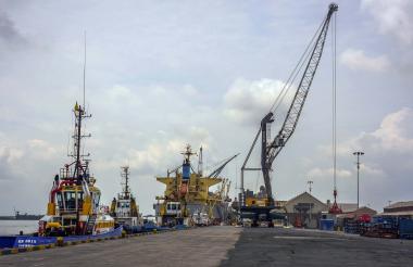 Vista de uno de los muelles del Puerto de Barranquilla.