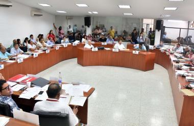 Los concejales de Barranquilla en reciente sesión.
