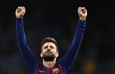 Pique celebró su sexto gol de la temporada en la victoria de Barcelona 3-1 sobre Rayo Vallecano, el sábado anterior.