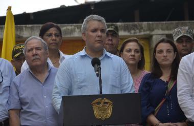 El presidente Duque en su visita a Sucre-Sucre.
