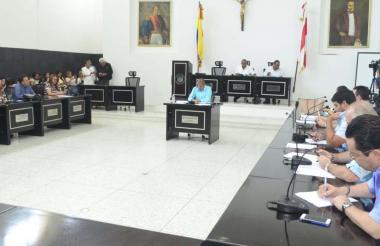 Aspecto de la sesión de la Asamblea realizada ayer.