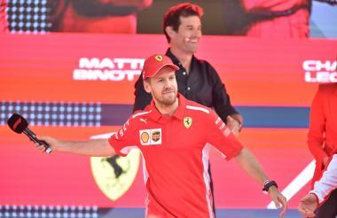 El piloto de Ferrari, el alemán Sebastian Vettel.