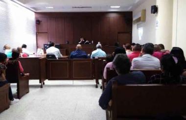 Aspecto de audiencias de lectura de macrosentencia a exparamilitares postulados a Justicia y Paz.