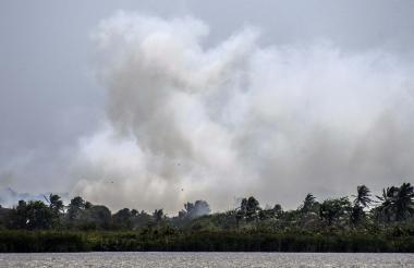 Esta semana los incendios forestales se registraron en la isla 1972, según autoridades del Magdalena.