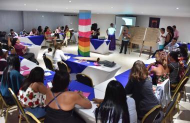 Reunión organizada por Caribe Afirmativo.