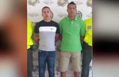 Arnulfo Hernández Robles y Antony José Herrera Mercado, capturados.