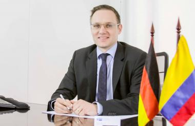 El presidente de la Cámara Colombo Alemana, Thorsten Kötschau.