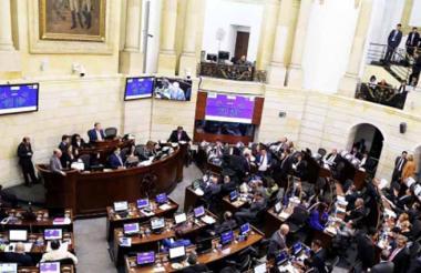 Aspecto de una plenaria del Congreso de la República, el organismo reanudará hoy las sesiones ordinarias.
