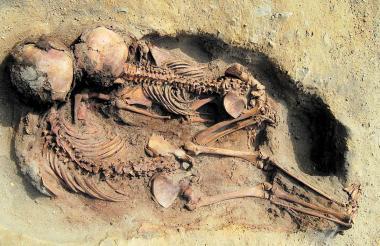 Los entierros de los niños se dieron con las piernas flexionadas.