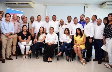 Mandatarios en la Ocadtón municipal realizada en el municipio de Ciénaga en el Magdalena.