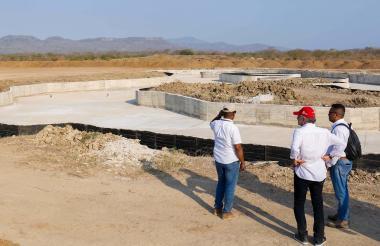 El gobernador, Eduardo Verano, realizó una visita a las obras del parque.