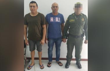 Los presuntos delincuentes.