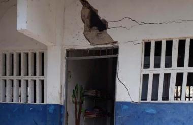 Aula de uno  de los colegios en  Bazán.