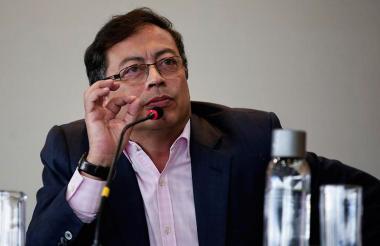 El excandidato presidencial y senador cordobés Gustavo Petro.