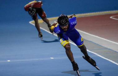 El patinador barranquillero Álex Cujavante Luna, en los Juegos Centroamericanos y del Caribe 2018.