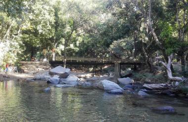 Las frescas aguas del río Manzanares atraviesan estos espacios rodeados de vegetación.