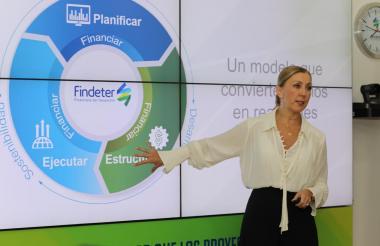 La presidente de Findeter, Sandra Gómez.