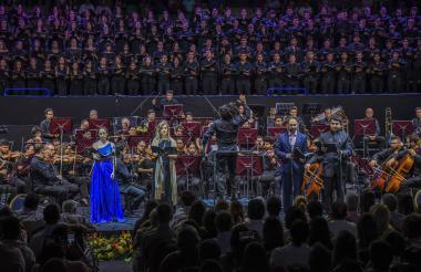 Momento del concierto en la Universidad del Norte.
