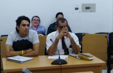 Gilberto Berrío Patiño durante la audiencia en los juzgados de Barranquilla.