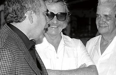 García Márquez, Alejandro Obregón y Germán Vargas, 1983 en Barranquilla.