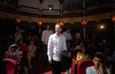 El cineasta estadounidense Ethan Coen durante su visita a Cartagena en el marco del Ficci.