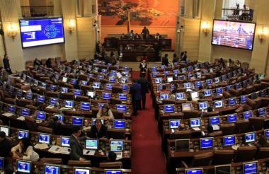 Aspecto de las instalaciones del Congreso de la República, donde el Plan Nacional de Desarrollo (PND) fue aprobado por las comisiones económicas conjuntas.