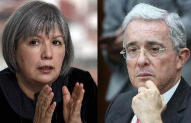 Patricia Linares y Álvaro Uribe.
