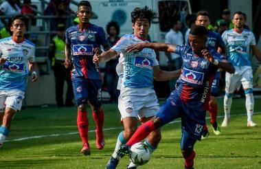 Imagen del duelo entre Junior y Unión, que se disputó el domingo 17 de este mes, en Santa Marta.