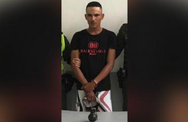 Dayron Argemiro Calle Zapata, capturado en flagrancia.