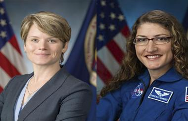 """Dean señaló que la NASA no programó inicialmente un dúo femenino a propósito: """"Simplemente sucedió así""""."""
