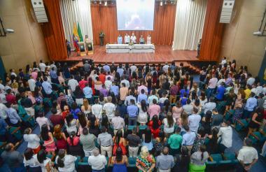 Ceremonia de graduación de los 834 egresados de diferentes programas por convenio Alcaldía de Soledad y Universidad Simón Bolívar.