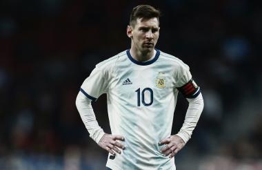 Lionel Messi durante el juego en que la Argentina cayó 3-1 ante Venezuela en Madrid.