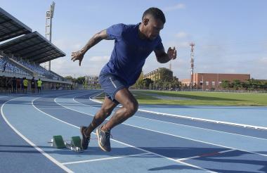 El atleta atlanticense Anthony Zambrano.