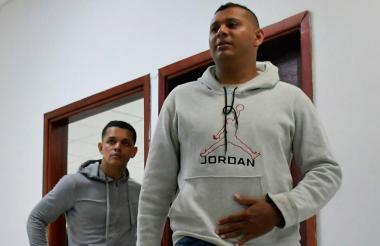 Luis Miguel Canedo y Andreis Rafael Juliao en audiencias preliminares.