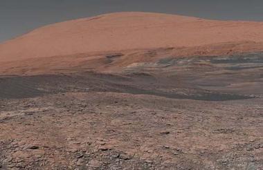 Imagen de la superficie de Marte.