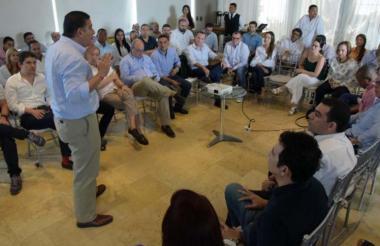 Miembros de la bancada de Cambio Radical en la Costa en una reunión.