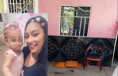 La vivienda en donde ocurrió el ataque sicarial en el que murió Durley Patricia Romero y resutó herida su pequeña hija.