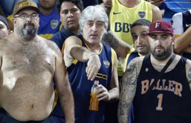 Aficionados de Boca Juniors en el estadio 'La Bombonera'.
